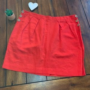 Banana Republic Red Mini Skirt